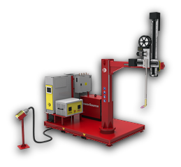Compact automated weld cladding system.